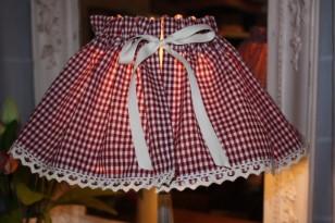 Kit de création couture: jupon abat-jour (tissu carreaux)