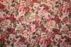 Tissu : petites fleurs sur fond beige