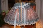 Kit de création couture: jupon abat-jour (tissu à petits poix)