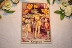 Image rétro sur tissu (thème: les elfes)